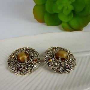 Germany Vintage Clip Medallion style earrings